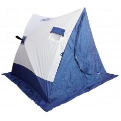 Палатка зимняя Следопыт 2-СКАТНАЯ бело-синяя (1.85х1.80х1.51 м)