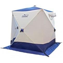 Палатка зимняя Следопыт КУБ 3 бело-синяя (1.8х1.8х2.0 м)