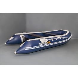 Надувная 4-ёх местная ПВХ лодка Солар Максима 380 килевая с транцем