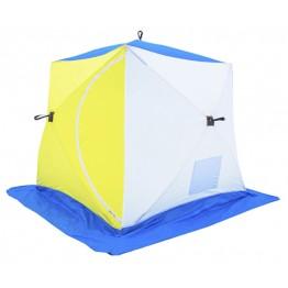 Палатка зимняя СТЭК КУБ 2 двухслойная (1.85х1.85х1.85м)