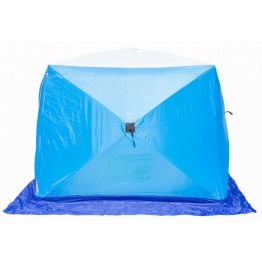 Палатка зимняя СТЭК КУБ 2 LONG трехслойная, дышащая (1.8х2.1х1.75 м)