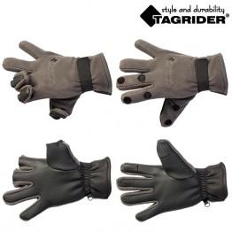 Перчатки Tagrider 095-7 неопреновые с флисом 3 откидных пальца