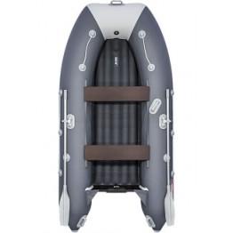 Надувная 3-местная ПВХ лодка Таймень LX 3200 НДНД (графит, светло-серый)