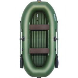Надувная 2-местная ПВХ лодка Таймень LX 290 НД (зеленая)