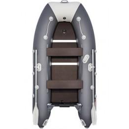 Надувная 3-местная ПВХ лодка Таймень LX 3200 СК (графит, светло-серый)