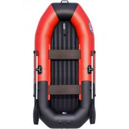 Надувная 2-местная ПВХ лодка Таймень NX 270 НД Комби (красно-черная)