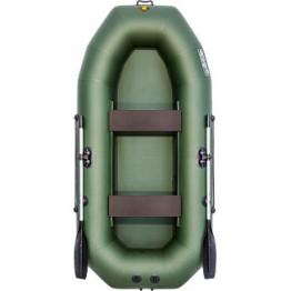 Надувная 2-местная ПВХ лодка Таймень NX 270 (зеленая)
