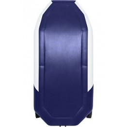 Надувная 2-местная ПВХ лодка Таймень NX 270 Комби (серо-синяя)