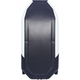 Надувная 2-местная ПВХ лодка Таймень NX 270 Комби (серо-черная)