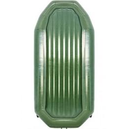 Надувная 2-местная ПВХ лодка Таймень NX 270 НД (зеленая)