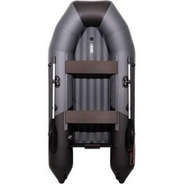 Надувная 2-местная ПВХ лодка Таймень NX 2900 НДНД Комби (графит, черный)