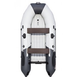 Надувная 2-местная ПВХ лодка Таймень NX 2900 НДНД Комби (серый, графит)