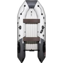 Надувная 3-местная ПВХ лодка Таймень NX 3200 НДНД Комби (серый, графит)