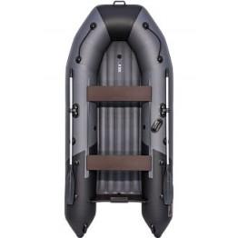 Надувная 3-местная ПВХ лодка Таймень NX 3200 НДНД Комби (графит, черный)