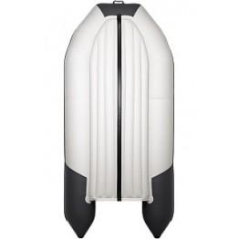 Надувная 4-местная ПВХ лодка Таймень NX 3400 НДНД Pro Комби (серый, графит)