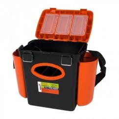 Ящик рыболовный для зимней рыбалки Тонар Helios Fishbox (10л) односекционный