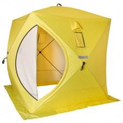 Палатка зимняя Helios Куб утепленная трехслойная (1.8х1.8х2.0м) + 8 ввертышей