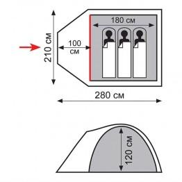 Палатка Totem INDI 3 (v2)