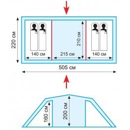 Палатка Tramp BREST 4 (v2)