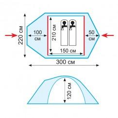 Палатка Tramp SPACE 2 (v2)