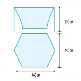 Тент со стойками Tramp Lite Blue 4.4x4.4 м