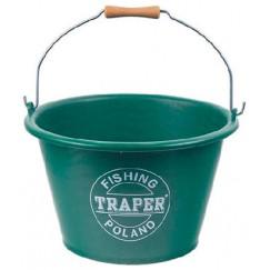 Ведро для прикормки Traper 17 л (зеленое)