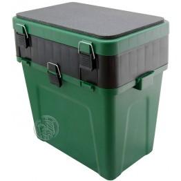 Ящик рыболовный для зимней рыбалки Три Кита зеленый (380*360*240 мм)