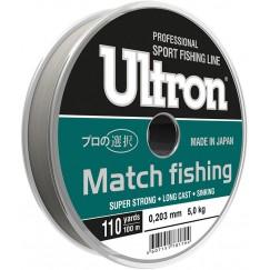Леска монофильная Ultron Match fishing 100 м (светло-голубая)