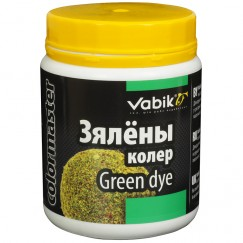 Краска для прикормки Vabik Colormaster зеленая 100г