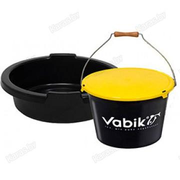 Ведро для прикормки Vabik PRO 25 л с тазом и крышкой
