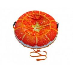 Санки-ватрушки Митек Сочный Апельсин (110см)