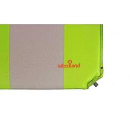 Самонадувающийся состёгивающийся коврик Woodland Camping Mat+, с подушкой 200x65x4 см