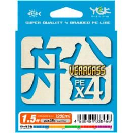 Леска плетёная YGK Veragass PE X4 150 м