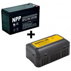 Зарядное устройство Вымпел 05 + АКБ NPP12-7 (при покупке эхолота)
