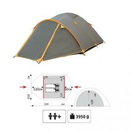 Туристическая 2-х местная палатка TRAMP Lair 2