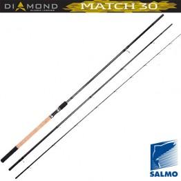 Удилище матчевое Salmo Diamond Match 30, углеволокно,  3,9 м, тест: 5-30 гр , 240 г