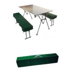 Набор мебели: стол алюминиевый со скамейками Tramp, TRF-018