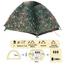 Туристическая палатка Sol Hunter 3