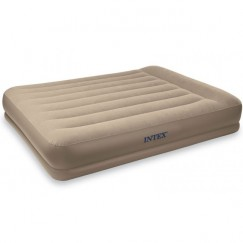Надувная кровать с насосом Intex 67748 Pillow Rest Mid-Rise 203 х 152 х 38