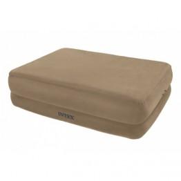 Надувная кровать с насосом Intex 67956 Queen Foam Top Airbed Kit 203 х 152 х 51