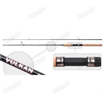 Спиннинг AKARA Vulkan IM8-V-210. углеволокно. штеккерный. 2.1 м. тест: 7-35 гр. 160 г