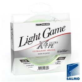 Леска Плетеная Team Salmo Light Game Fine Green X4 100 м