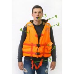 Спасательный жилет двухсторонний MedNovTex до 100 кг