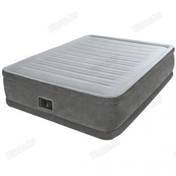 Надувная кровать с насосом Intex 64418 QUEEN COMFORT-PLUSH 152 см х 203 см х 56 см