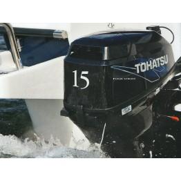 Подвесной 4-х тактный бензиновый лодочный мотор TOHATSU MFS15D S