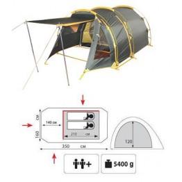 Туристическая 2-х местная палатка TRAMP Octave 2