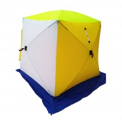 Палатка зимняя СТЭК КУБ 2 двухслойная дышащая(1.85х1.85х1.85м)
