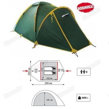 Туристическая 2-ух местная палатка TRAMP Space 2