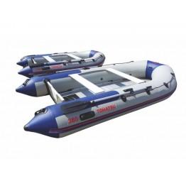 Надувная 5-6-ти местная ПВХ лодка Tohatsu ME 360 A/L с алюминиевым полом
