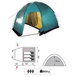 Кемпинговая 3-х местная палатка TRAMP Bell 3